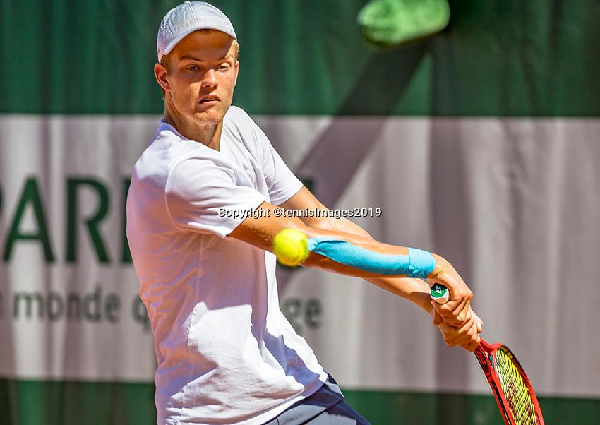 Paris, France, 1 june, 2019, Tennis, French Open, Roland Garros, Joniors, Christian Lerby (NED)<br /> Photo: Henk Koster/tennisimages.com