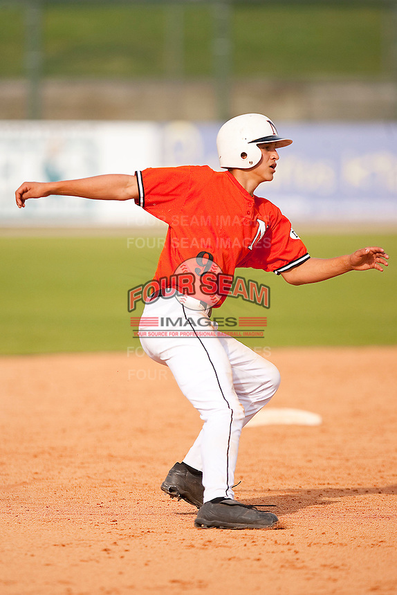 Corey Seager #9 of the Northwest Cabarrus Trojans in action on April 3, 2010 in Kannapolis, North Carolina  Photo by Brian Westerholt / Sports On Film