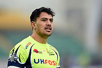 Denny Solomona of Sale Sharks looks on after the match. Aviva Premiership match, between Northampton Saints and Sale Sharks on March 3, 2018 at Franklin's Gardens in Northampton, England. Photo by: Patrick Khachfe / JMP