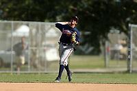 Shortstop Oscar Serratos (19) during the WWBA World Championship at the Roger Dean Complex on October 21, 2016 in Jupiter, Florida.  Oscar Serratos (19).  (Greg Wagner/Four Seam Images)