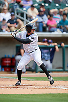Birmingham Barons first baseman Nick Basto (25) at bat during a game against the Jacksonville Jumbo Shrimp on April 24, 2017 at Regions Field in Birmingham, Alabama.  Jacksonville defeated Birmingham 4-1.  (Mike Janes/Four Seam Images)