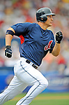 11 March 2008: Cleveland Indians' center fielder Grady Sizemore in action during a Spring Training game against the Detroit Tigers at Chain of Lakes Park, in Winter Haven Florida. The Tigers rallied to defeat the Indians 4-2 in the Grapefruit League matchup...Mandatory Photo Credit: Ed Wolfstein Photo