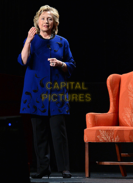 CORAL GABLES, FL - FEBRUARY 26: Hillary Rodham Clinton, Former Secretary of State during an event at the University of Miami BankUnited Center on February 26, 2014 in Coral Gables, Florida. Clinton is reported to be mulling a second presidential run. <br /> CAP/MPI/mpi10<br /> &copy;mpi10/MediaPunch/Capital Pictures