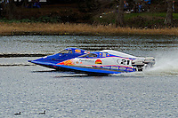 Jose Mendana, Jr., (#21), Rob Rinker, (#1) and Steve Lee, (#26) launch off the start dock.  (SST-45 class)