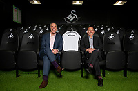 Pictured: Chris Pearlman (left) COO of Swansea City During the Swansea City Business Network day at the Fairwood Training Ground Thursday 21 February 2019<br /> Re: