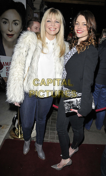 LONDON, ENGLAND - JANUARY 29: Kate Thornton &amp; Kate Ford attend the &quot;Di and Viv and Rose&quot; press night, Vaudeville Theatre, The Strand, on Thursday January 29, 2015 in London, England, UK. <br /> CAP/CAN<br /> &copy;Can Nguyen/Capital Pictures