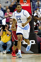 Washington, DC - MAR 10, 2018: Rhode Island Rams forward Andre Berry (34) in action during semi final match up of the Atlantic 10 men's basketball championship between Saint Joseph's and Rhode Island at the Capital One Arena in Washington, DC. (Photo by Phil Peters/Media Images International)