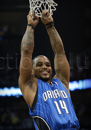 08 May 2010: Orlando's Jameer Nelson in Eastern Conference Semi-Finals Atlanta Hawks 105-75 loss to the Orlando Magic in Game 3 at Philips Arena in Atlanta, GA.