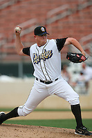 June 15 2007:  Brian Chambers of the Rancho Cucamonga Quakes pitches against the Modesto Nuts at The Epicenter in Rancho Cucamonga,CA.  Photo by Larry Goren/Four Seam Images