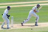 Nick Browne in batting action for Essex as Tim Ambrose looks on from behind the stumps during Essex CCC vs Warwickshire CCC, Specsavers County Championship Division 1 Cricket at The Cloudfm County Ground on 19th June 2017