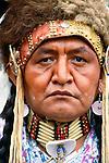 Portrait of a Shuswap man, British Columbia, Canada