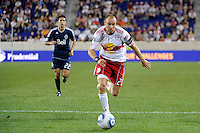Joel Lindpere (20) of the New York Red Bulls. The New York Red Bulls and the Vancouver Whitecaps played to a 1-1 tie during a Major League Soccer (MLS) match at Red Bull Arena in Harrison, NJ, on September 10, 2011.
