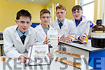 St Brendans college students Jack Lynch, Darragh Fleming, Cian McCarthy and Peter Walsh getting prepared for the Colleges Science Fair which is on Friday