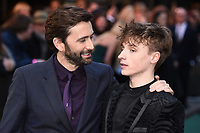 "David Tennant and son, Ty Tennant<br /> arriving for the ""TOLKIEN"" premiere at the Curzon Mayfair, London<br /> <br /> ©Ash Knotek  D3499  29/04/2019"