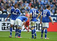FUSSBALL   1. BUNDESLIGA  SAISON 2012/2013   4. Spieltag FC Schalke 04 - FC Bayern Muenchen      22.09.2012 Joel Matip, Roman Neustaedter, Kyriakos Papadopoulos und Marco Hoeger (v. li., FC Schalke 04)