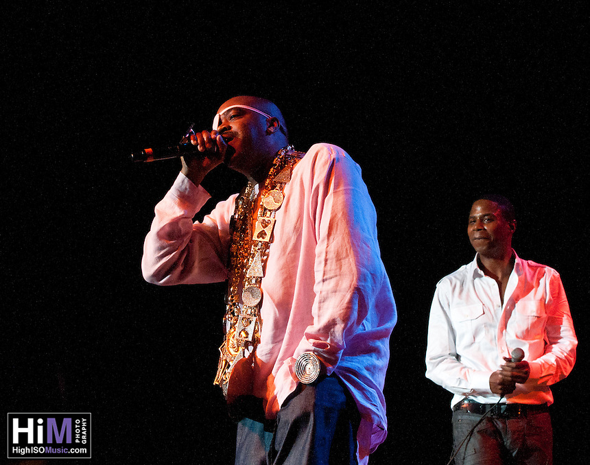 Doug E. Fresh and Slick Rick performing at Legends of Hip Hop in New Orleans.