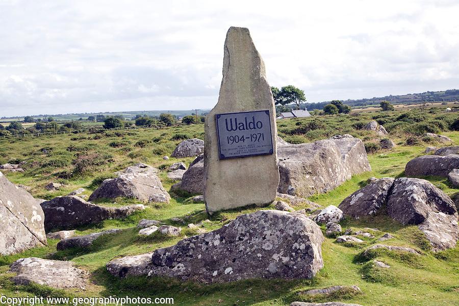 Carreg Waldo memorial stone to the Welsh poet Waldo Williams Mynachlog Ddu Preseli Hills pembrokeshire Wales