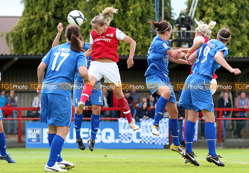Gemma Davison scores Arsenal's 1st goal - Arsenal Ladies versus Birmingham City Ladies, Women's Super League at Boreham Wood FC - 24/06/12 - MANDATORY CREDIT: Rob Newell/TGSPHOTO - Self billing applies where appropriate - 0845 094 6026 - contact@tgsphoto.co.uk - NO UNPAID USE..