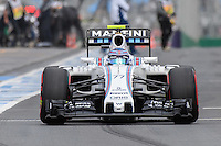 March 19, 2016: Valtteri Bottas (FIN) #77 from the Williams Martini Racing team leaving the pits for qualifying at the 2016 Australian Formula One Grand Prix at Albert Park, Melbourne, Australia. Photo Sydney Low