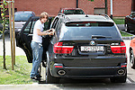 EXCLUSIVE PICTURES 12.05.2010., Zagreb, Croatia - Luka Modric, footballer who plays for Tottenham Hotspur, and his pregnant bride Vanja Bosnic are going to the restaurant to celebrate their yesterday's wedding. They got married at a registry office, but they are not wearing rings. .Foto © nph / Anic
