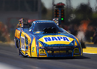 Mar 16, 2018; Gainesville, FL, USA; NHRA funny car driver Ron Capps during qualifying for the Gatornationals at Gainesville Raceway. Mandatory Credit: Mark J. Rebilas-USA TODAY Sports
