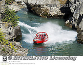 Tom Mackie, LANDSCAPES, LANDSCHAFTEN, PAISAJES, photos,+Shotover Gorge Jet Boat, New Zealand,New Zealand, Shotover River Gorge, Tom Mackie, Worldwide, adventure, attraction, boat, b+oating, boats, gorge, holiday destination, horizontally, horizontals, jetboat, red, restoftheworldgallery, river, scenery, to+urist attraction, vacation, water, water's edge++,GBTM160190-1,#l#