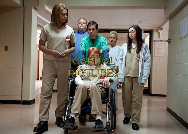 Laverne Cox, Beth Fowler and Kimiko Glenn<br /> in Orange Is the New Black (2013&ndash; ) <br /> (Season 2)<br /> *Filmstill - Editorial Use Only*<br /> CAP/NFS<br /> Image supplied by Netflix/Capital Pictures