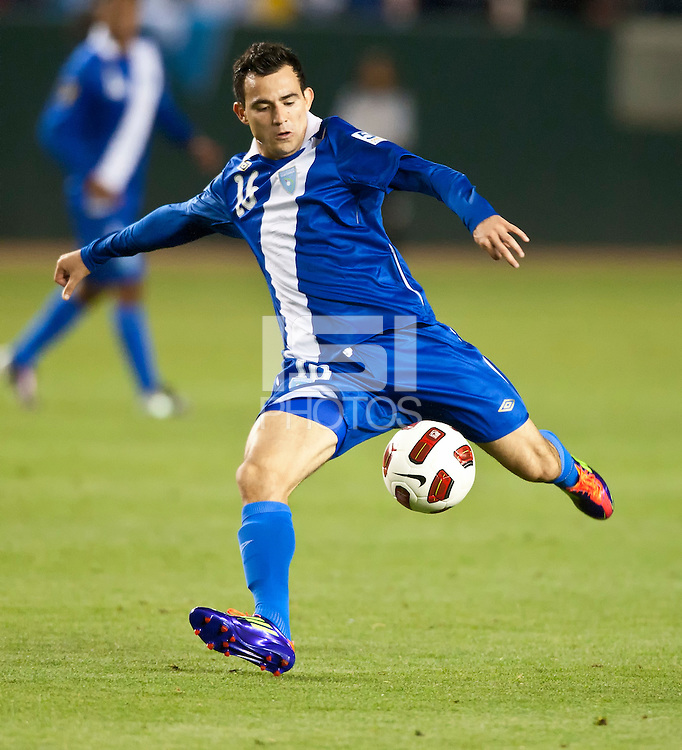 CARSON, CA – June 6, 2011: Guatemala player Marco Pappa (16) during the match between Guatemala and Honduras at the Home Depot Center in Carson, California. Final score Guatemala 0, Honduras 0.