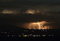 Lightning strikers near a small town in Northern Arizona