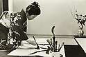 Undated - Shunkei Yahagi was a Japanese calligrapher. (Photo by Koichi Saito/AFLO)