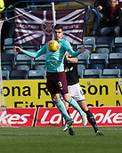 30th September 2017, Dens Park, Dundee, Scotland; Scottish Premier League football, Dundee versus Hearts; Hearts' Kyle Lafferty