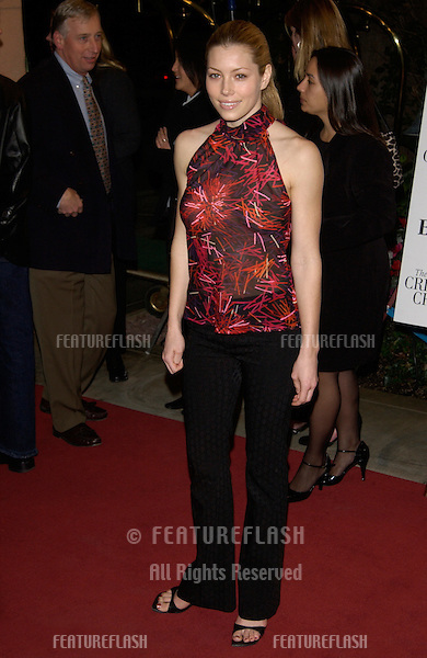Actress JESSICA BIEL at the Broadcast Film Critics Association's 7th Annual Critics Choice Awards at the Beverly Hills Hotel..11JUN2002...© Paul Smith/Featureflash