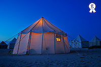 Illuminated tent on beach at dawn, Red Sea, Egypt (Licence this image exclusively with Getty: http://www.gettyimages.com/detail/81867378 )