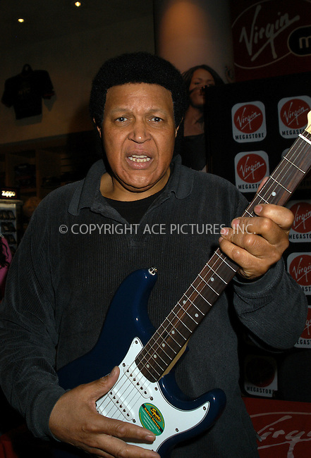 Recording artist Chubby Checker and members of his band 'O.D.' were on hand to sign copies of Checker's Grearest Hits CD at the Virgin Megastore in New York's Time Square. March 17 2004.Please byline: AJ SOKALNER/ACE Pictures.   ..*PAY-PER-USE*      ....IMPORTANT: Please note that our old trade name, NEW YORK PHOTO PRESS (NYPP), is replaced by new name, ACE PICTURES. New York Photo Press and ACE Pictures are owned by All Celebrity Entertainment, Inc.......All Celebrity Entertainment, Inc:  ..contact: Alecsey Boldeskul (646) 267-6913 ..Philip Vaughan (646) 769-0430..e-mail: info@nyphotopress.com