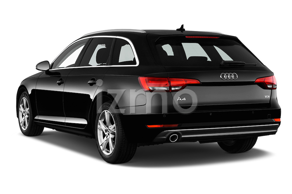 Car pictures of rear three quarter view of 2017 Audi A4 Sport 5 Door Wagon Angular Rear
