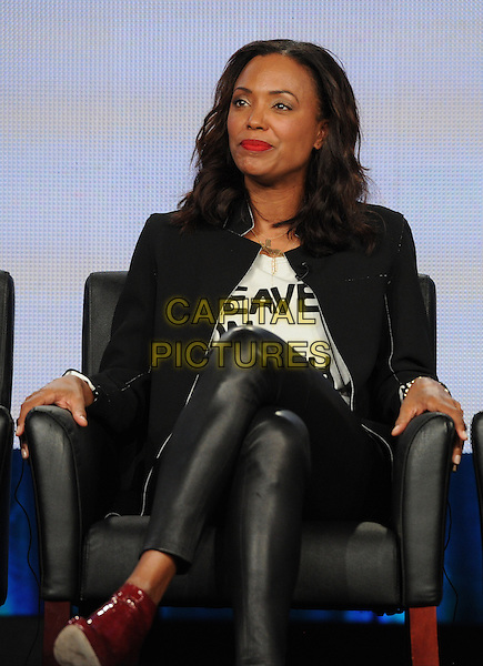 2015 FX WINTER TCA: Cast members Aisha Tyler during the ARCHER panel at the 2015 FX WINTER TCA on Sunday, Jan. 18 at the Langham Hotel in Pasadena CA.   <br /> CAP/MPI/PGFM<br /> &copy;PGFM/MPI/Capital Pictures