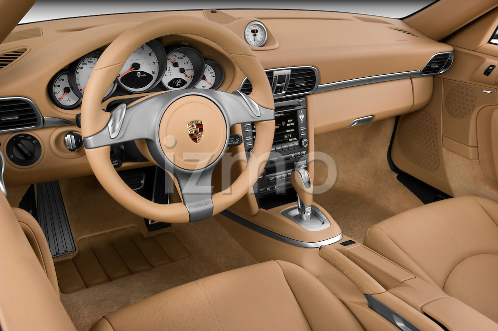 High angle dashboard view of a 2009 Porsche Carrera Coupe S