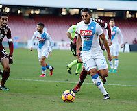 Faouzi Ghoulam  during the  italian serie a soccer match,between SSC Napoli and Torino       at  the San  Paolo   stadium in Naples  Italy , December 18, 2016