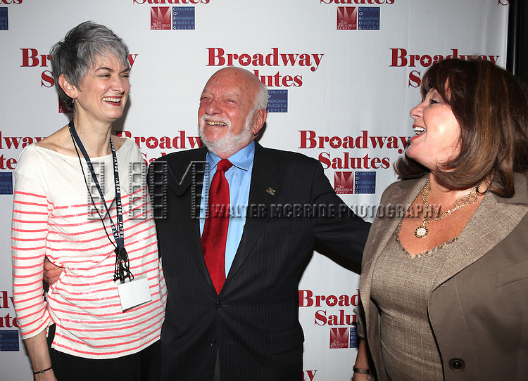 Nina Lannan, Hal Prince & Charlotte St. Marti attending the 'Broadway Salutes' honoring those who make Broadway Great at the Timers Square Visitors Center in Times Square,  New York City on 9/20/2012.