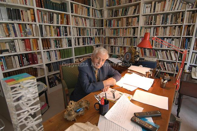 Emmanuel Le Roy Ladurie at home.