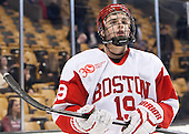 Robbie Baillargeon (BU - 19) - The Boston College Eagles defeated the Boston University Terriers 3-1 (EN) in their opening round game of the 2014 Beanpot on Monday, February 3, 2014, at TD Garden in Boston, Massachusetts.