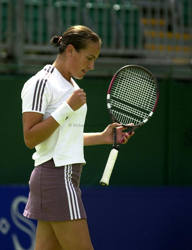 Photo: Richard Lane..DFS Classic Women's International Tennis at Edgebaston. 09/06/2003..Jane O'Donoghue.
