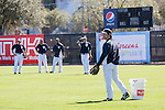 Hideki Matsui ,<br /> FEBRUARY 20, 2014 - MLB : Hideki Matsui, the New York Yankees guest instructor during the Yankees spring training baseball camp at George M. Steinbrenner Field in Tampa, Florida, United States.<br /> (Photo by Thomas Anderson/AFLO) (JAPANESE NEWSPAPER OUT)