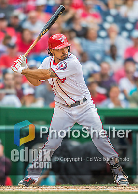 14 May 2016: Washington Nationals third baseman Anthony Rendon at bat during the first game of a double-header against the Miami Marlins at Nationals Park in Washington, DC. The Nationals defeated the Marlins 6-4 in the afternoon matchup.  Mandatory Credit: Ed Wolfstein Photo *** RAW (NEF) Image File Available ***