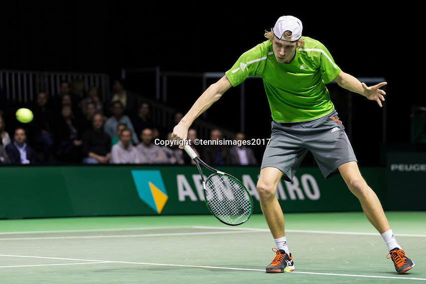ABN AMRO World Tennis Tournament, Rotterdam, The Netherlands, 14 februari, 2017, Niels Lootsma (NED)<br /> Photo: Henk Koster