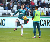 4th November 2017, Liberty Stadium, Swansea, Wales; EPL Premier League football, Swansea City versus Brighton and Hove Albion; Sam Clucas of Swansea City warming up