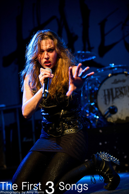 Lzzy Hale of Halestorm performs at Bogarts in Cincinnati, Ohio.