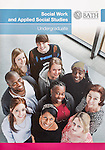 Tear sheet showing the cover of the prospectus for the University of Bath Social Work and Applied Social Studies Undergraduate course.