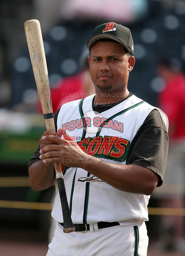 Buffalo Bisons Andy Marte during batting practice before the Triple-A All-Star Game at Fifth Third Field on July 10, 2006 in Toledo, Ohio.  (Mike Janes/Four Seam Images)