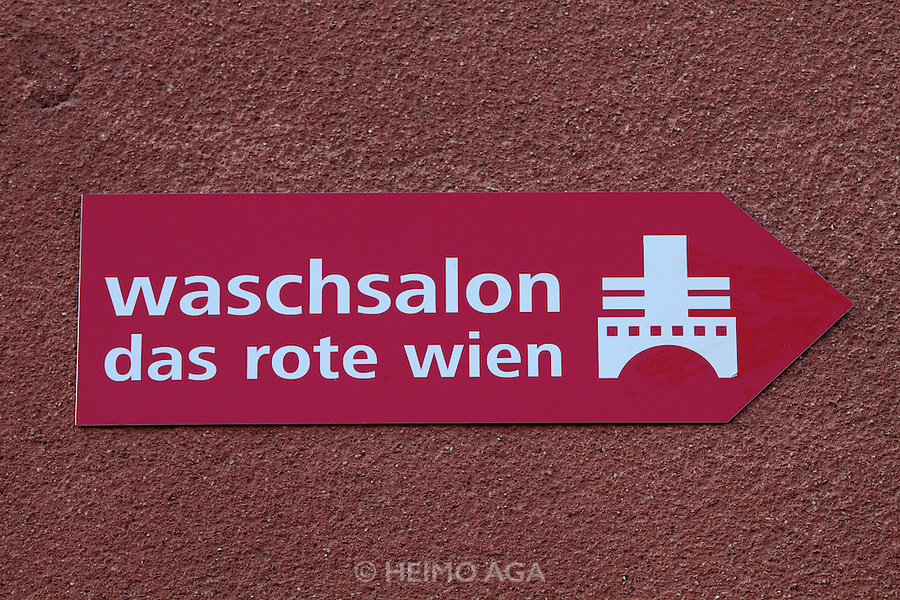 "Vienna, Karl-Marx-Hof. Washing salon ""The Red Vienna""."